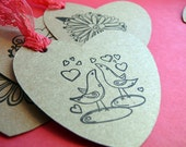 Handmade Gift Tags, Scrapbook Tags------Hearts Aplenty
