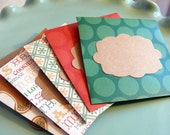 Christmas Mini Cards set of 5 Home Baked Goods
