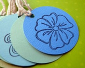 Handmade Tags Set of 8   Beautiful Flowers