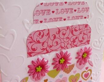 Handmade  Wedding card and envelope---Sugar Sweet