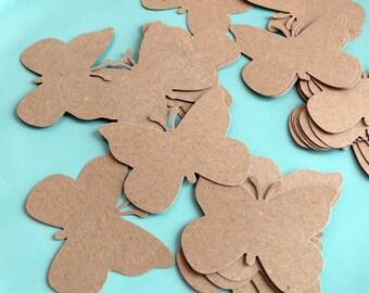Butterfly Die Cuts  Kraft Paper