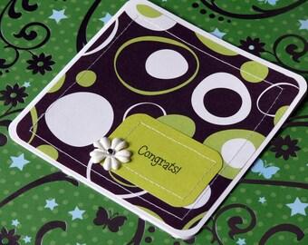 Congratulations handmade card and envelope----Retro