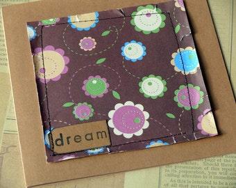 Handmade card and envelope  Dream