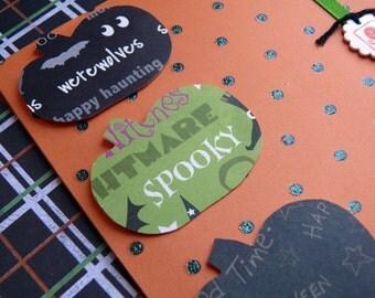 Handmade Halloween card and envelope----Charming Pumpkins