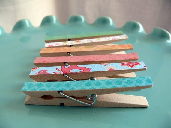 Memo Clips altered decorative clothespins Emma