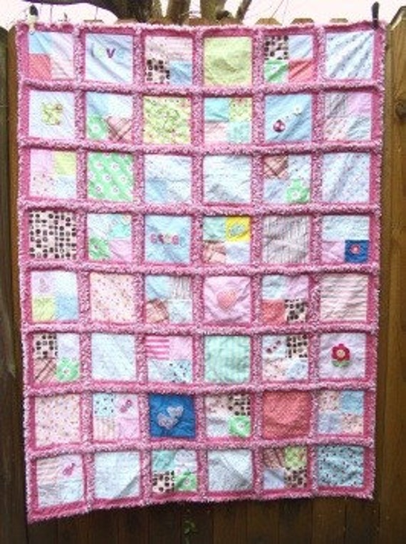 Custom Memory Rag Quilt from YOUR Baby Clothes 48 X 64 FREE : memory rag quilts - Adamdwight.com