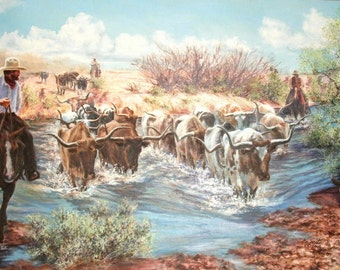Horsehead Crossing on the Pecos Limited Edition Print
