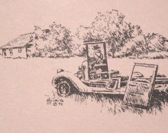 Back Home.... Stationery from pen & ink drawing