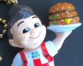 FAN PULL BOB'S BIG BOY Miniature Retro Figurine Ceiling Fan Pull Chain Hamburger Mascot Decor