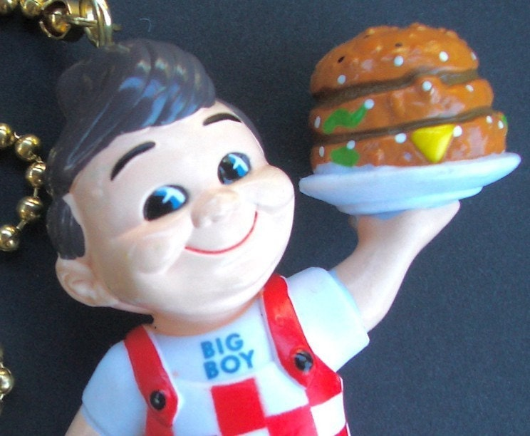 Fan Pull Bob S Big Boy Miniature Retro Figurine Ceiling