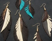 25% Off Leather Feather Earrings when you buy three pairs