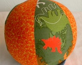 Prehistoric Dinosaur Cloth Rattle Ball