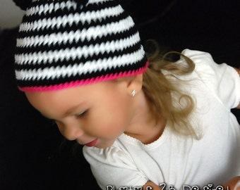 Zebra Beanie-Custom Made Photo Prop