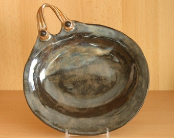 Oval Tray With Handle/Candle Holder