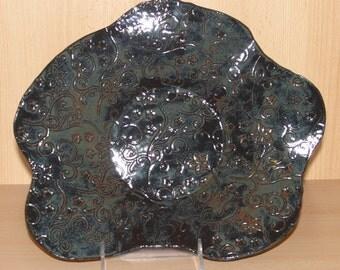Textured Stoneware Friut Bowl