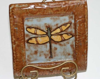 Dragonfly Squre Plate