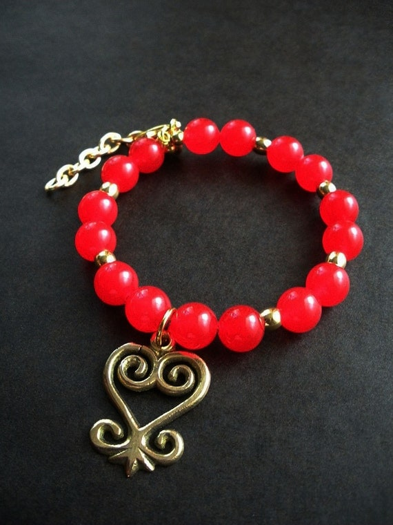 Sankofa Love Charm Bangle Bracelet