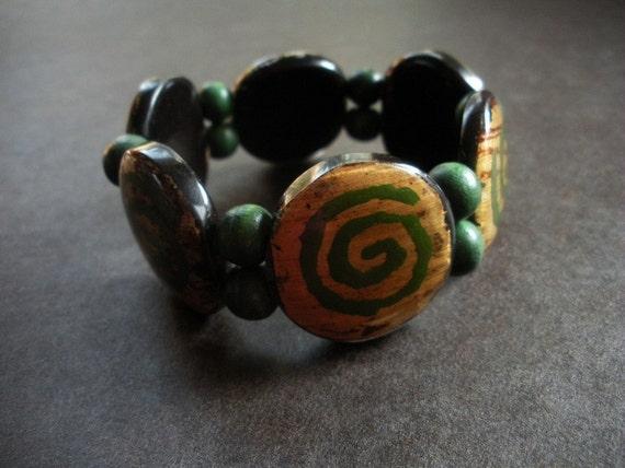 Adinkrahene Olive Adinkra Bangle Bracelet