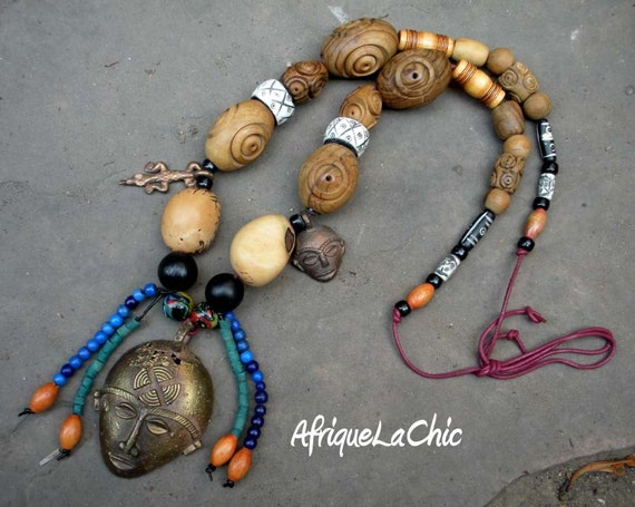 Ghanian King Mens Tribal African Necklace