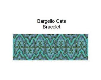 Bargello Cats Bracelet PDF Peyote Pattern Beadweaver