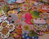 Kawaii Japanese Sticker Flake Grab Bag Lot (50 pieces)