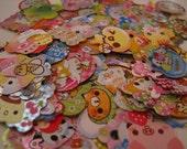 Kawaii Japanese Sticker Flake Grab Bag Lot (100 pieces)