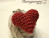 Amigurumi Heart Key Chain