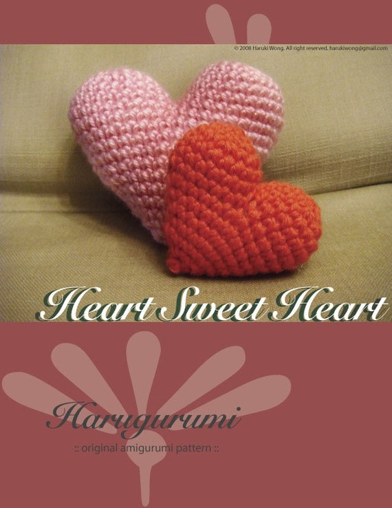 Amigurumi Heart Pillow : Amigurumi Heart PATTERN