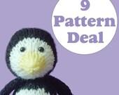 KNITTING PATTERN DEAL - 9 Animal Toy Patterns - you choose (pdf)
