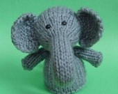 Elephant Toy Knitting Pattern (PDF)  Legs, Egg Cozy & Finger Puppet instructions included
