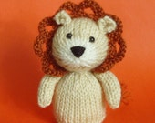 Lion Toy Knitting Pattern (PDF)  Legs, Egg Cozy & Finger Puppet instructions included