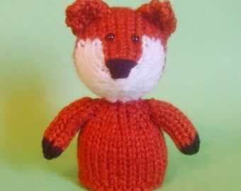 Fox Toy Knitting Pattern (PDF) Legs, Egg Cozy & Finger Puppet instructions included