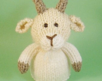 Goat Toy Knitting Pattern (PDF) Toy, Egg Cozy & Finger Puppet instructions included