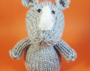 Rhino Toy Knitting Pattern (PDF)