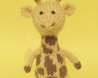 Giraffe Toy Knitting Pattern (PDF)  Legs, Egg Cozy & Finger Puppet instructions included