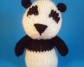 Panda Toy Knitting Pattern (PDF)