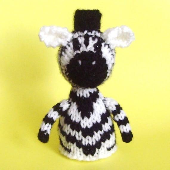 Zebra Toy Knitting Pattern PDF