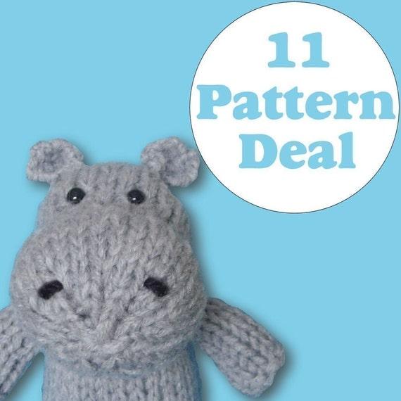 KNITTING PATTERN DEAL - 11 Animal Toy Patterns - you choose (pdf)
