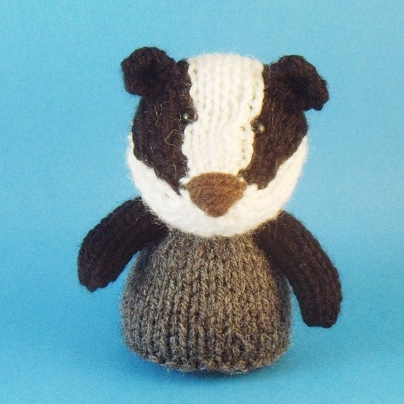 Badger Toy Knitting Pattern PDF