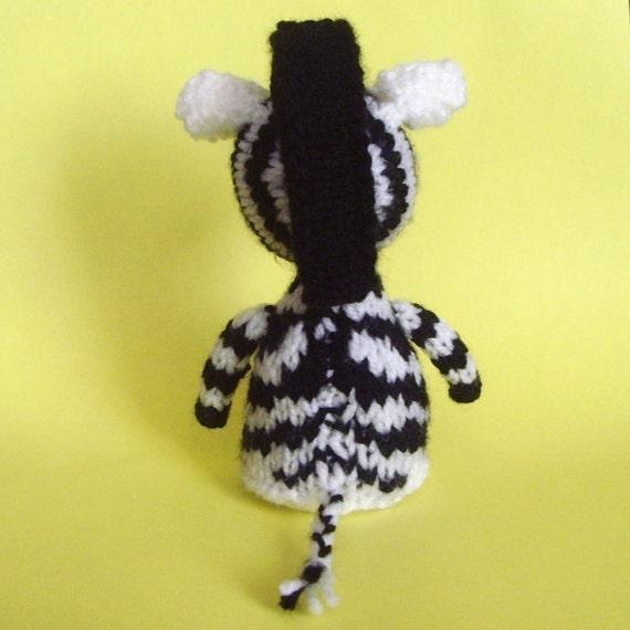 Zebra Toy Knitting Pattern (PDF) from Jellybum on Etsy Studio