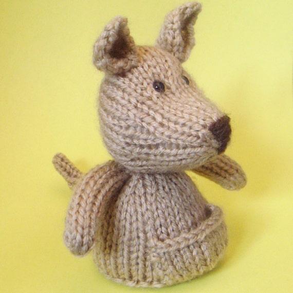 Kangaroo Knitting Pattern : Kangaroo Toy Knitting Pattern (PDF) from Jellybum on Etsy Studio