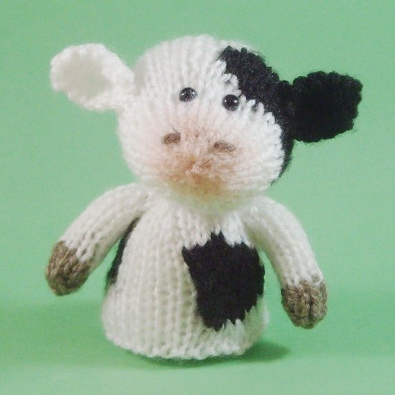 Knitting Patterns For Toys On Etsy : Cow Toy Knitting Pattern PDF by Jellybum on Etsy