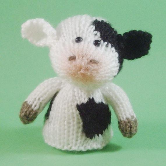 Cow Knitting Pattern : Cow Toy Knitting Pattern PDF