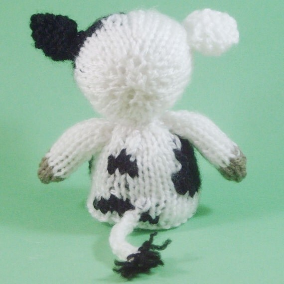 Knitting Pattern Cow Toy : Cow Toy Knitting Pattern PDF
