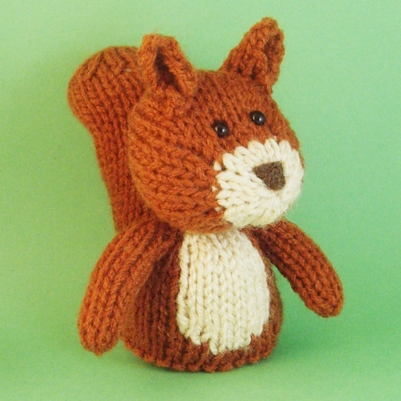 Squirrel Toy Knitting Pattern (PDF) from Jellybum on Etsy ...