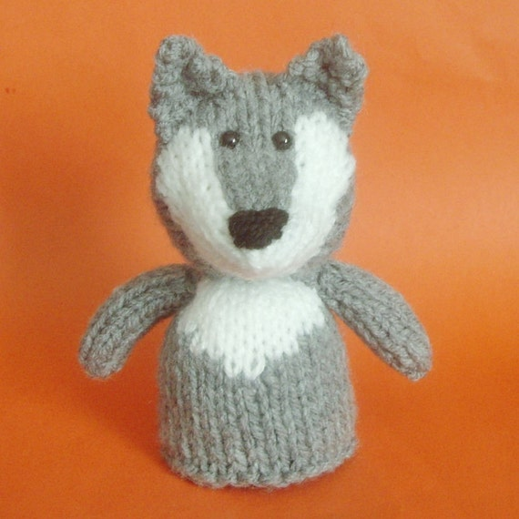 Knitting Patterns For Toys On Etsy : Wolf Toy Knitting Pattern PDF by Jellybum on Etsy