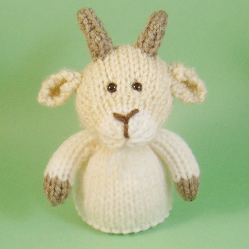 Knitting Patterns Toys Finger Puppets : Goat Toy Knitting Pattern PDF Toy Egg Cozy & Finger Puppet