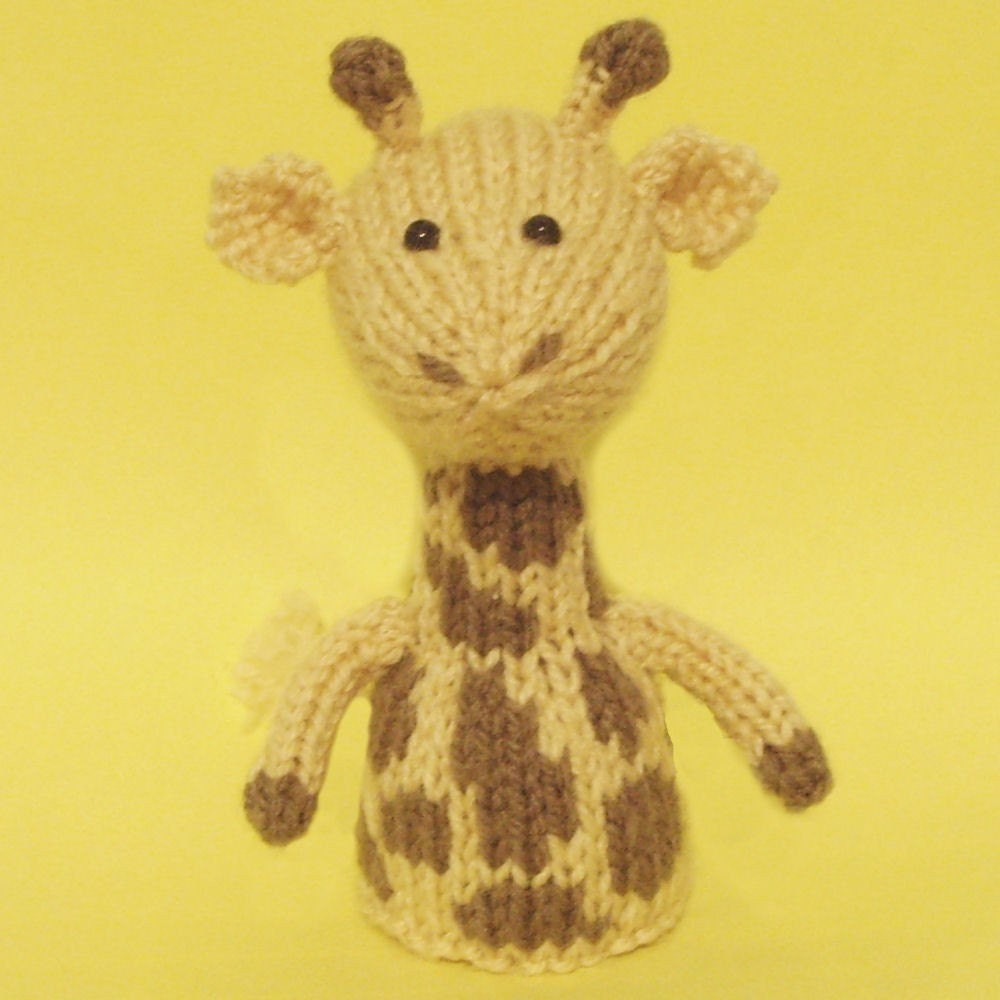 Knitting Pattern Giraffe : Giraffe Toy Knitting Pattern PDF Legs Egg Cozy & Finger