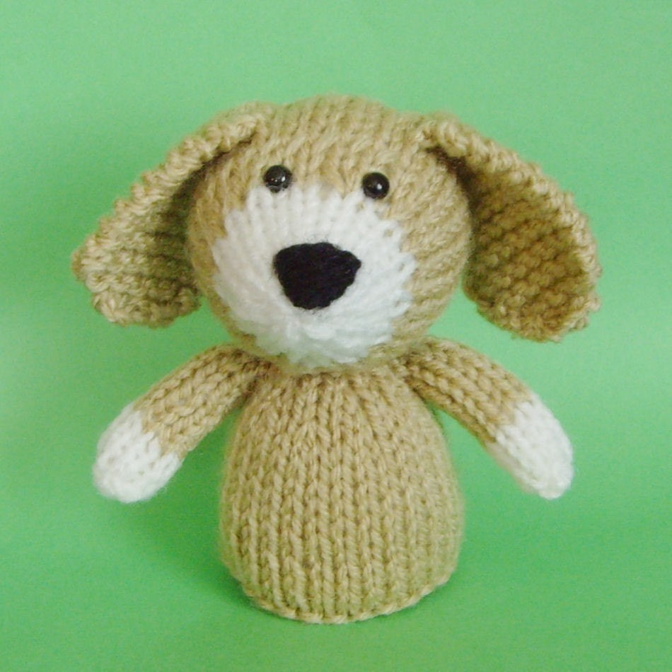 Knitting Pattern For Puppy Dogs : Dog Toy Knitting Pattern PDF