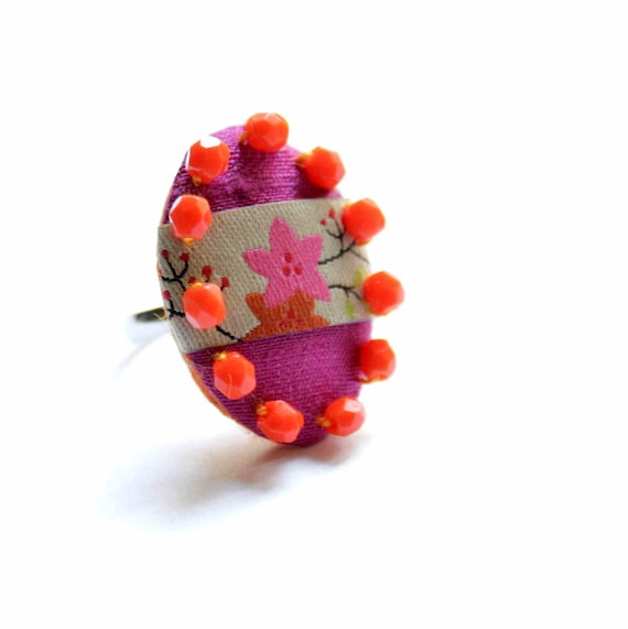 Colors of India - handstiched ring